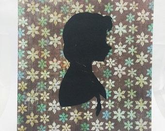"""Princess Anna Frozen Inspired Cut Paper Silhouette Portrait 8"""" x 10"""" Cut Out Art Portraits"""