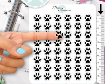 Clear Paw Stickers Vet Stickers Pet Stickers Erin Condren Functional Stickers Decorative Stickers NR362
