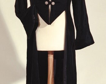 Velvet Tailcoat / Frockcoat - Vampire, Pirate, Gothic - Large Sizes Only