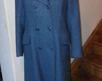 GLEN HAR 1960/70'S Airforce-Blue Military Style Coat