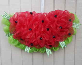 Watermelon Wreath, Watermelon Mesh wreath, Spring Wreath, Summer wreath, spring mesh wreath, summer mesh wreath