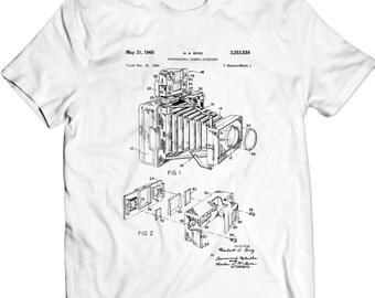 Photographic Camera Patent T-Shirt Mens Gift Idea Photography Art, Camera Art, Photography Patent Holiday Gift Birthday Present