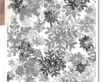 Decoupage Paper • swirling snowflakes snow flurry winter • for mod podge decopatch scrapbooking