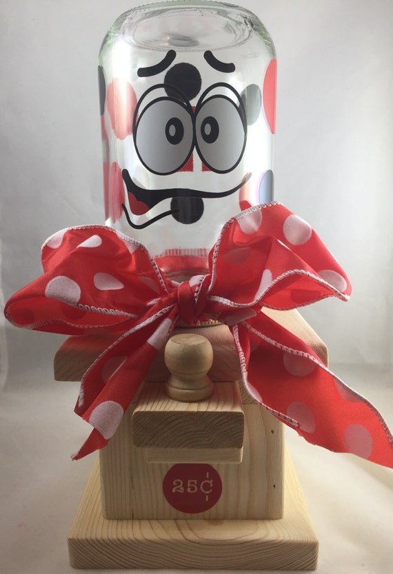 Candy Ms Hand Crafted Wooden Candy Machine Dispenser