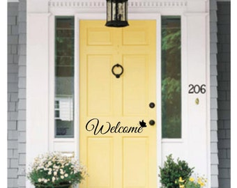 Decals Door Welcome sign Front Door Decal Welcome Decal Home Door Decal Vinyl for Door Greeting & Front door signs | Etsy Pezcame.Com