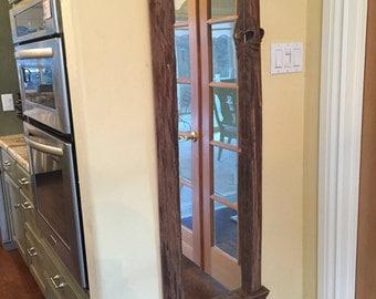 Redwood framed mirror