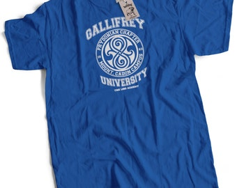 Gallifrey University Time Lord Prydonian Academy Mens Premium T-Shirt Choice of Colours Small to 2XL
