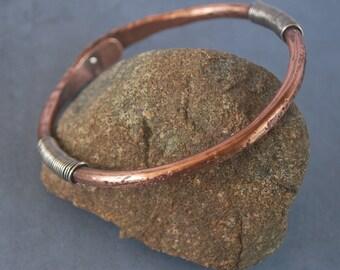 Cleopatra's Bracelet - Riveted copper bracelet