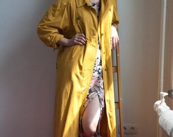 Vintage 80's Mustard Trench Coat
