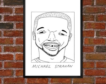 Badly Drawn Michael Strahan - Giants