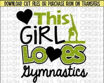 This Girl Loves Gymnastics Iron on Decal Vinyl