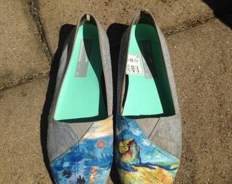 Painted shoes - custom Monet shoes