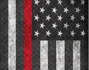 Firefighter Thin Red Line D Plate Cornhole Wrap Bag Toss Decal Baggo Skin Sticker Wraps