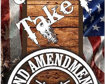 2nd Amendment Gun Rights Camo Cornhole Wrap Bag Toss Decal Baggo Skin Sticker Wraps