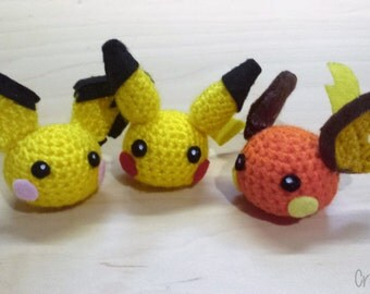 Chibi Pichu, Pikachu and Raichu