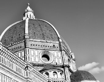 Florence Duomo, Florence Italy - Fine Art print, Firenze, Black and White,