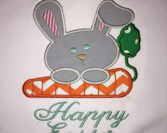 Easter Bunny Carrot Embroidered Shirt