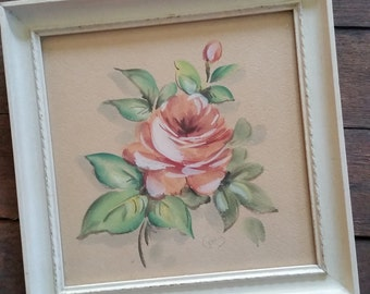"""Watercolor Painting of Roses - Signed by Rieman 