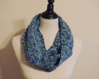 Spring Brook Cowl | Blue, Teal, Green, Purple Cowl | Crochet Scarf | Crochet Cowl | Woman's Accessory | Winter Cowl