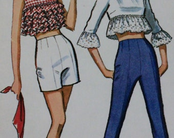 """1960s Misses Tops & Pants Pattern from McCalls - Size 16 (Bust 36"""")"""