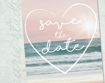 Beach Destination Photo Save the Date CUSTOM DIY PRINTABLE
