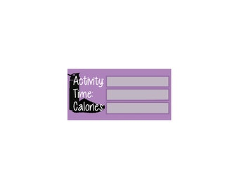 Calories Burned, Workout / Fitness Tracker Printable Stickers for Erin Condren Planner Download PDF