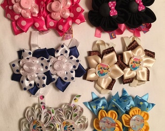 Girls bows, hair bows, Pick 1 Pairs, buy 4 pairs a takes 1 free