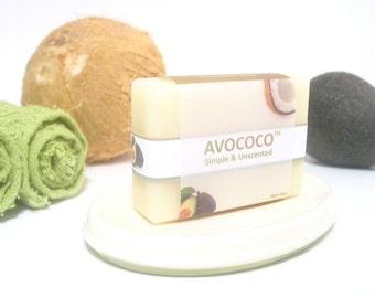 Coconut Milk Soap Bar, Unscented Soap, All Natural Soap, Vegan Soap, Sensitive Skin Soap, Coconut Soap, Handmade Soap