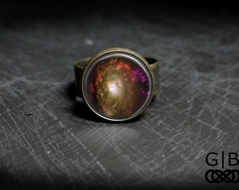 Wizard Ring Space Wizard Ring Jewelry Purple Wizard Ring Bronze Wizard Ring Bronze Jewelry Wizard Adjustable Bronze Ring Adjustable Band