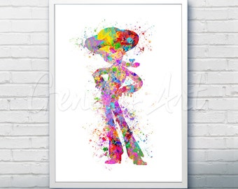 Disney Pixar Toy Story Jessie Watercolor Poster Print - Watercolor Painting - Watercolor Art - Kids Decor- Nursery Decor