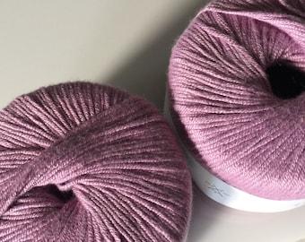 Sirdar baby Bamboo DK in Dark Rose Pink, Soft Baby Yarn, Lot of 2