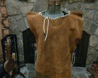 suede leather top