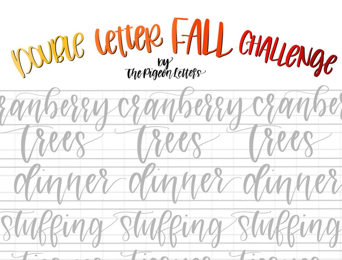 Practice Sheets Fall Double Letter Words For November