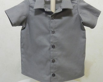 Children's Clothing/Boys Gray Shirt/Infant Clothing/Kids Clothing