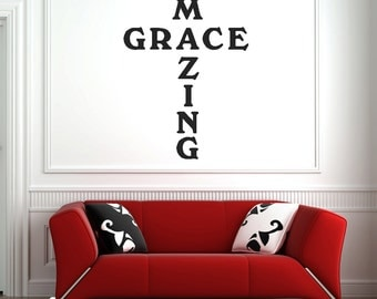 Amazing Grace Wall Art amazing grace cross | etsy