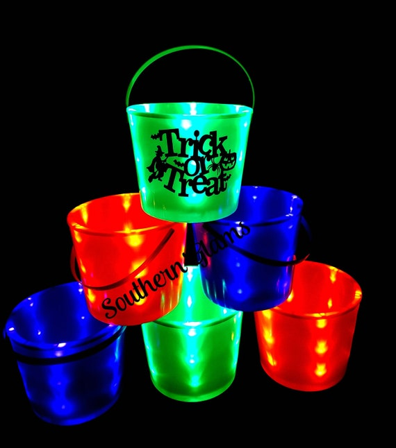 Personalized Light Up Halloween Bucket LED Kid's by ...