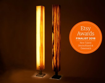 Floor lamp floor lamp wood veneer LED wood design