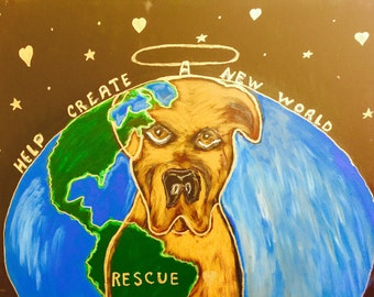 Dog, Love, Rescue Painting