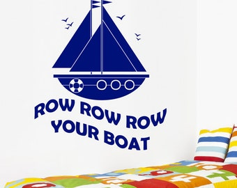 Nursery Rhyme Wall Decals Etsy UK - Decals for boats uk