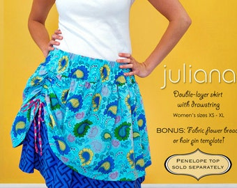 ModKid - Juliana - Paper Sewing Pattern for Tweens and Teens Skirt