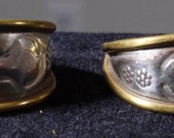 Mexican or Southwestern Half Hoop Earrings