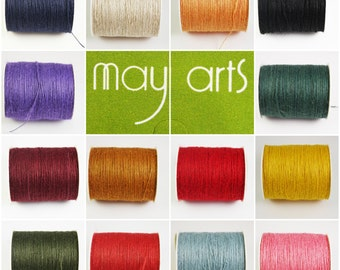 May Arts Jute Burlap 1mm String/Twine 21 Colours - 5m,10m, & 20m