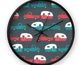 Retro Clock - Camper Wall Clock - Truck Wall Clock - Vintage Clock - Mid Century Clock - Mid Century Wall Clock - Trailer Clock - Cute Clock