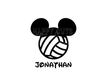 Personalized Volleyball Sports Hat Mickey Mouse Sports Matching Family Father Son Husband Disney Iron On Decal Vinyl for Shirt 080