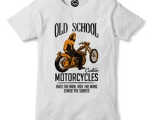 Race The Wain Ride The Wind Chase The Sunset Tshirt Motorcycle Motorbike PP155
