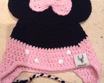 Mini Mouse child's beanie with ear flaps