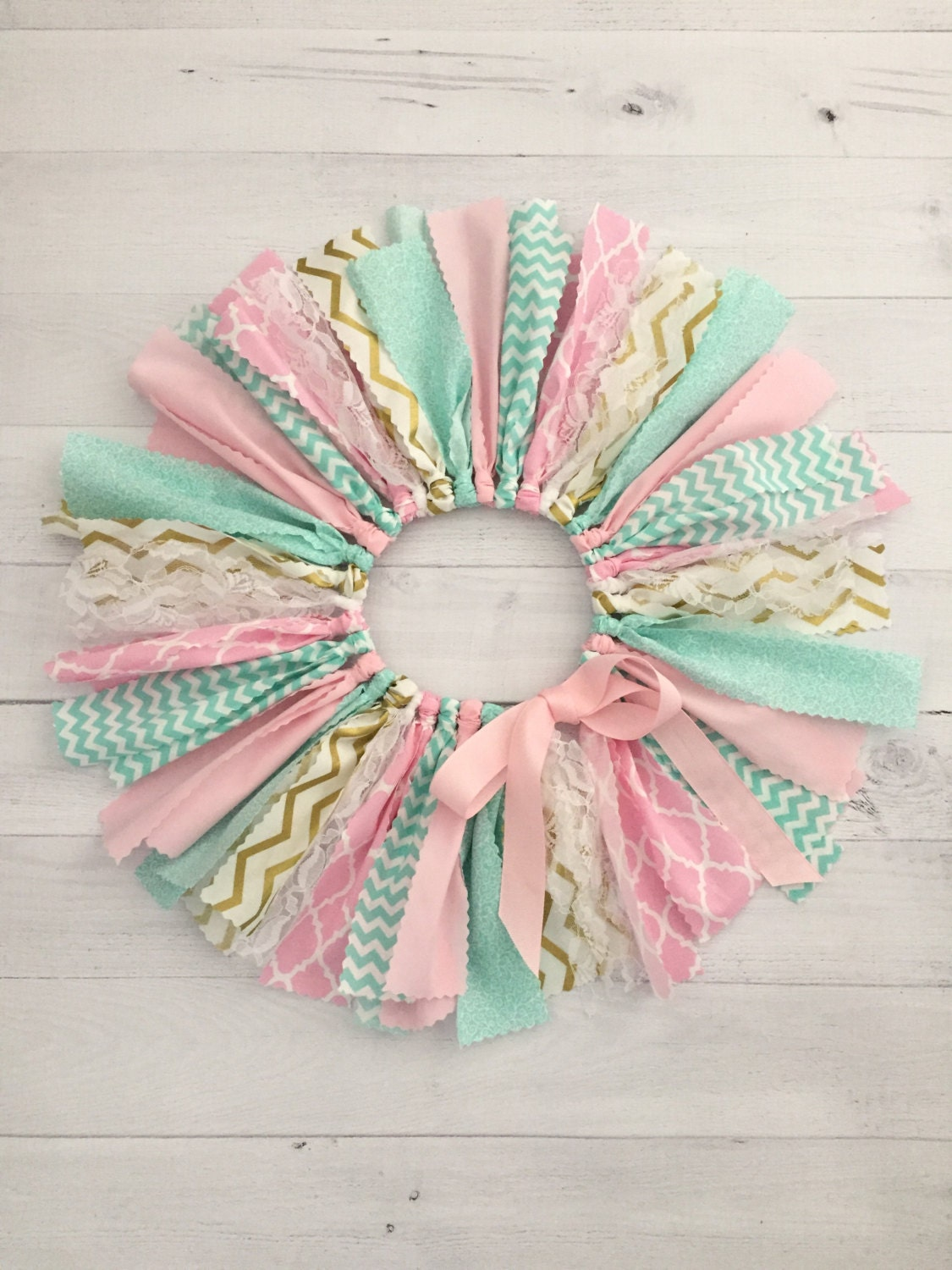 Pink mint and gold tutu fabric tutu baby girl birthday for Baby girl fabric