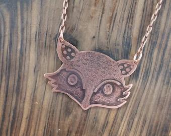 Fox Jewelry, Etch Jewelry, Copper Jewelry, Custom Jewelry
