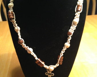 Anchor hemp necklace