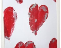Mes P'tites Patates : Que je t'aime ! - Tampon peinture coeurs